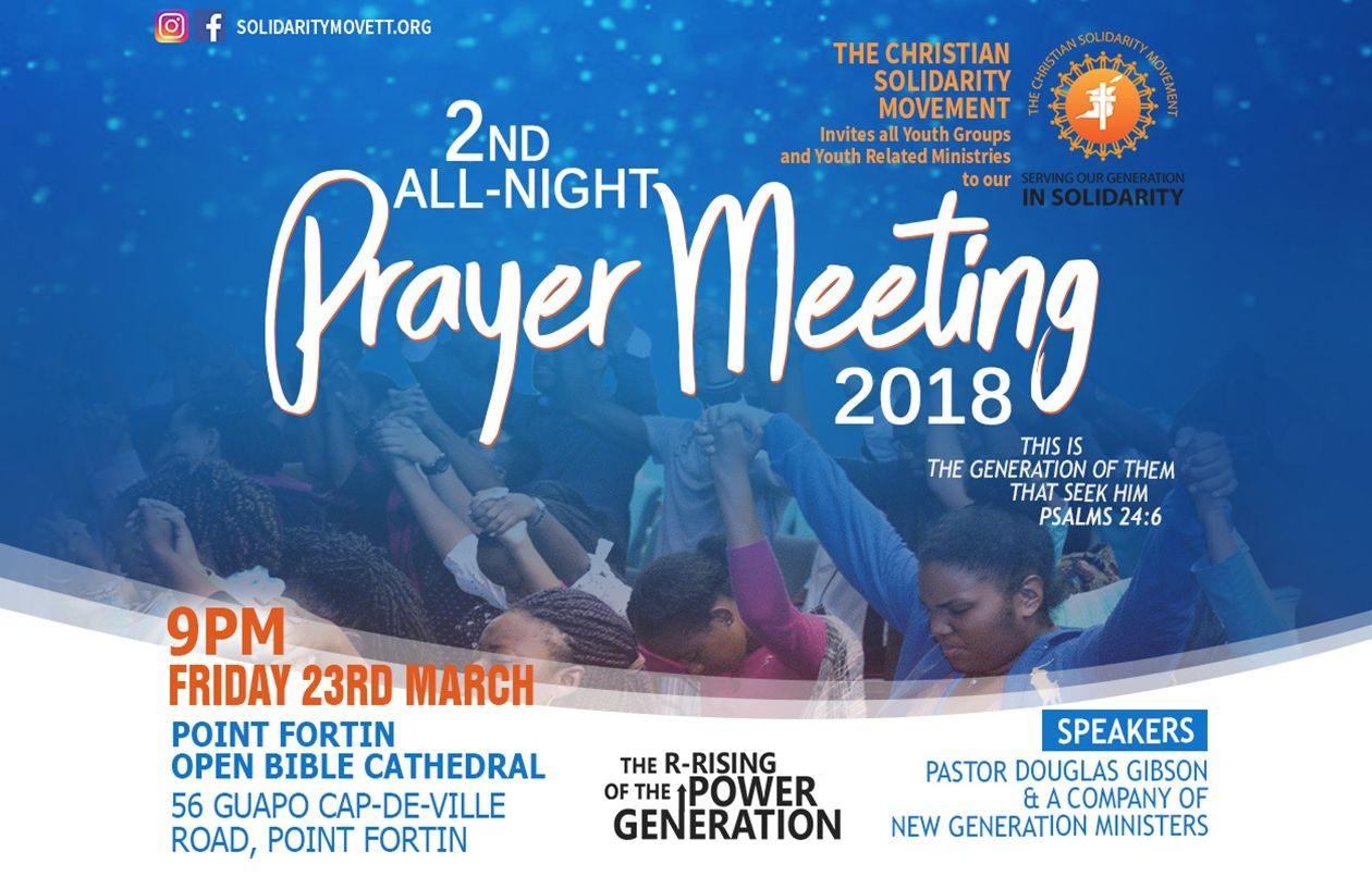 The Christian Solidarity Movement 2nd All Night Prayer Meeting 2018
