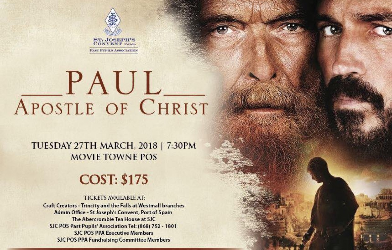 St. Joseph's Convent POS Movie Fundraiser: Paul, Apostle Of Christ