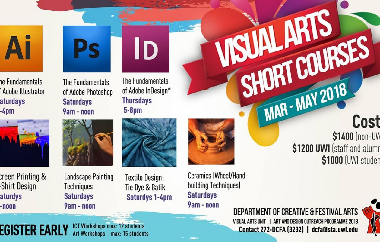UWI DCFA Visual Arts Short Courses 2018: Textile Design - Tie Dye and Batik