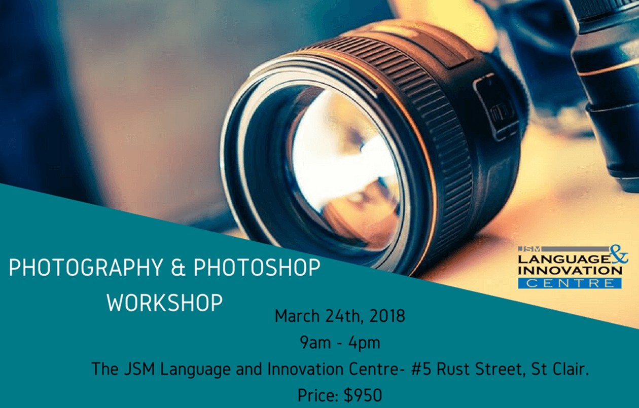 Get your Photography and Photoshop skills ready for 2018 - 24.3.18