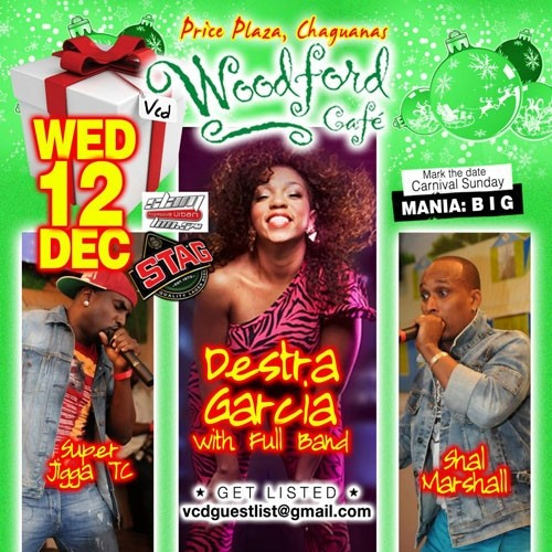 Woodford Cafe Wednesday: Destra Garcia, Shal Marshall and Super Jigga TC