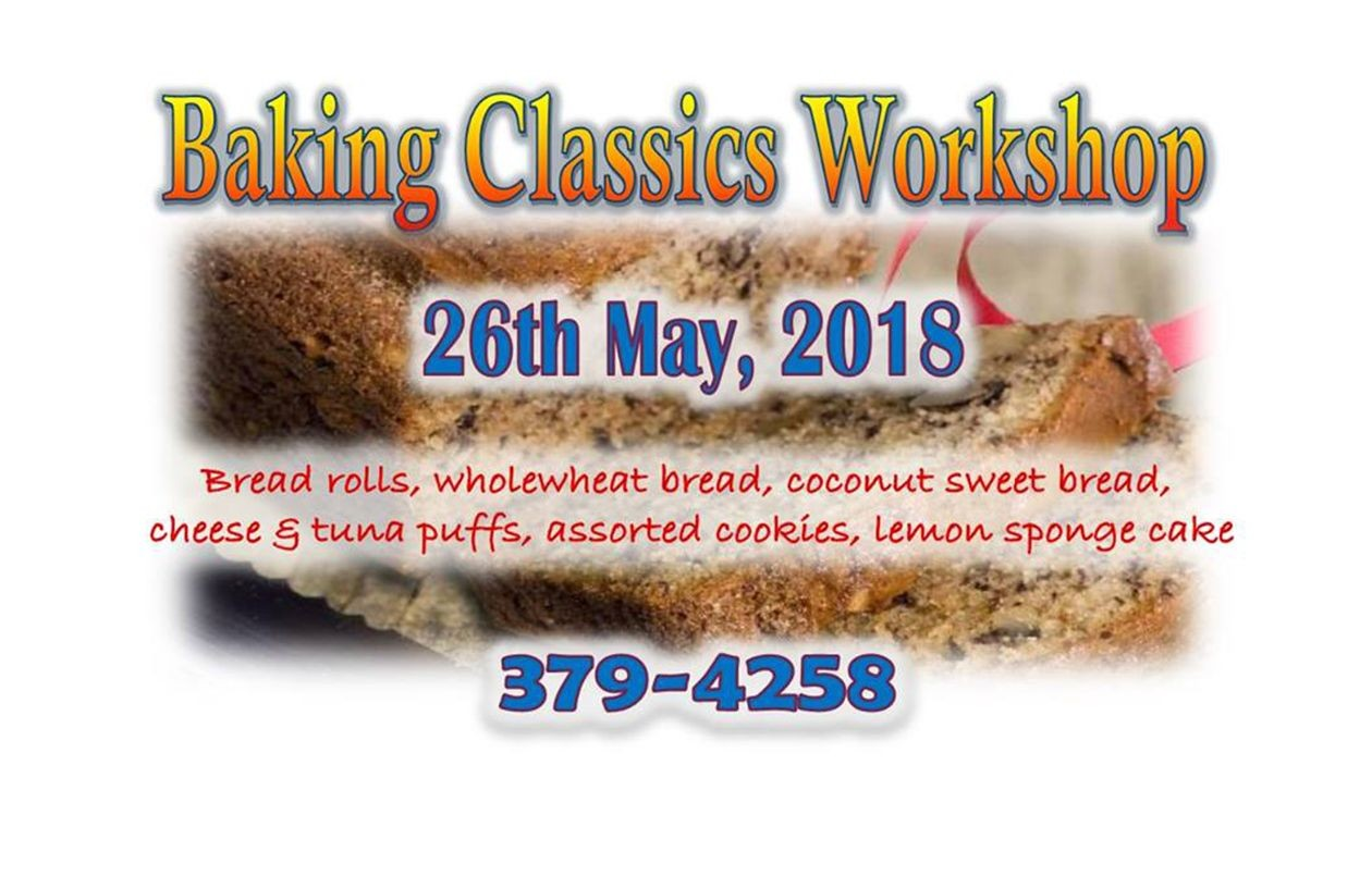 Baking Classics Workshop - 26.5.18