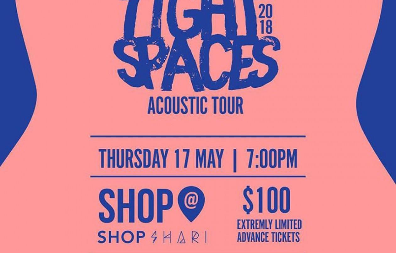 Tight Spaces Acoustic Tour 2018: Shop Shari