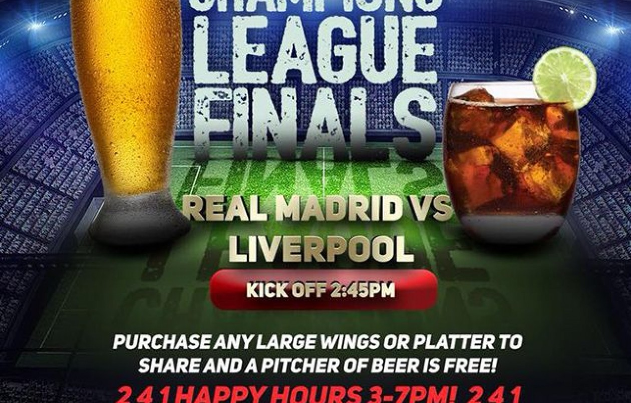 Champions League 2018 Finals at Woodford Cafe