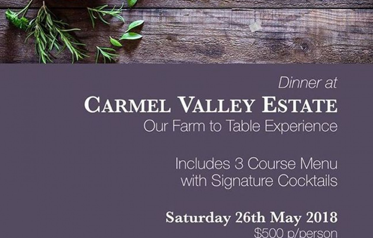 Carmel Valley Estate Farm To Table Experience