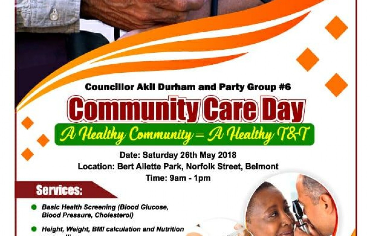 Councillor Akil Durham and Party Group #6 Community Care Day - 26.5.18