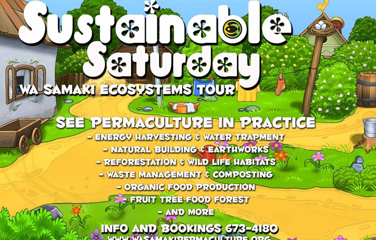 Sustainable Saturday at Wa Samaki - 26.5.18