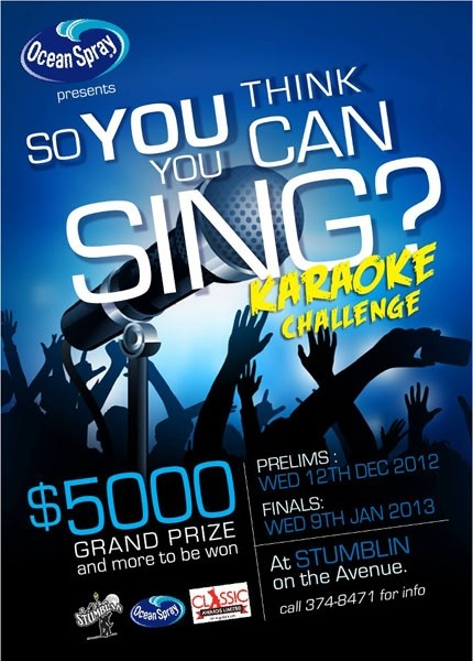 Ocean Spray  So You Think You Can Sing  Karaoke Challenge