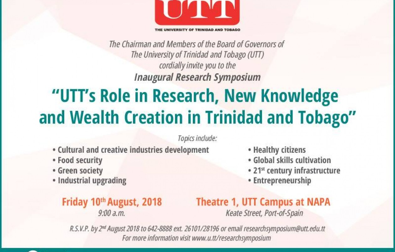 UTT's Inaugural Research Symposium 2018