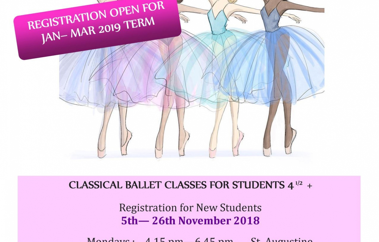 BALLET CLASSES-NEW STUDENT REGISTRATION