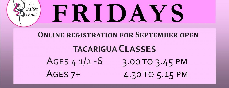 Friday Ballet Classes - September to December 2018