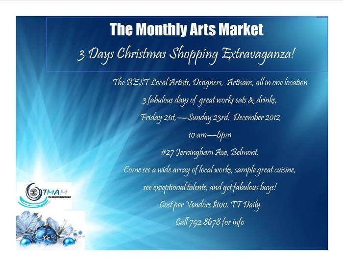 The Monthly Arts Market: December 3 Day Christmas Shopping Extravaganza!