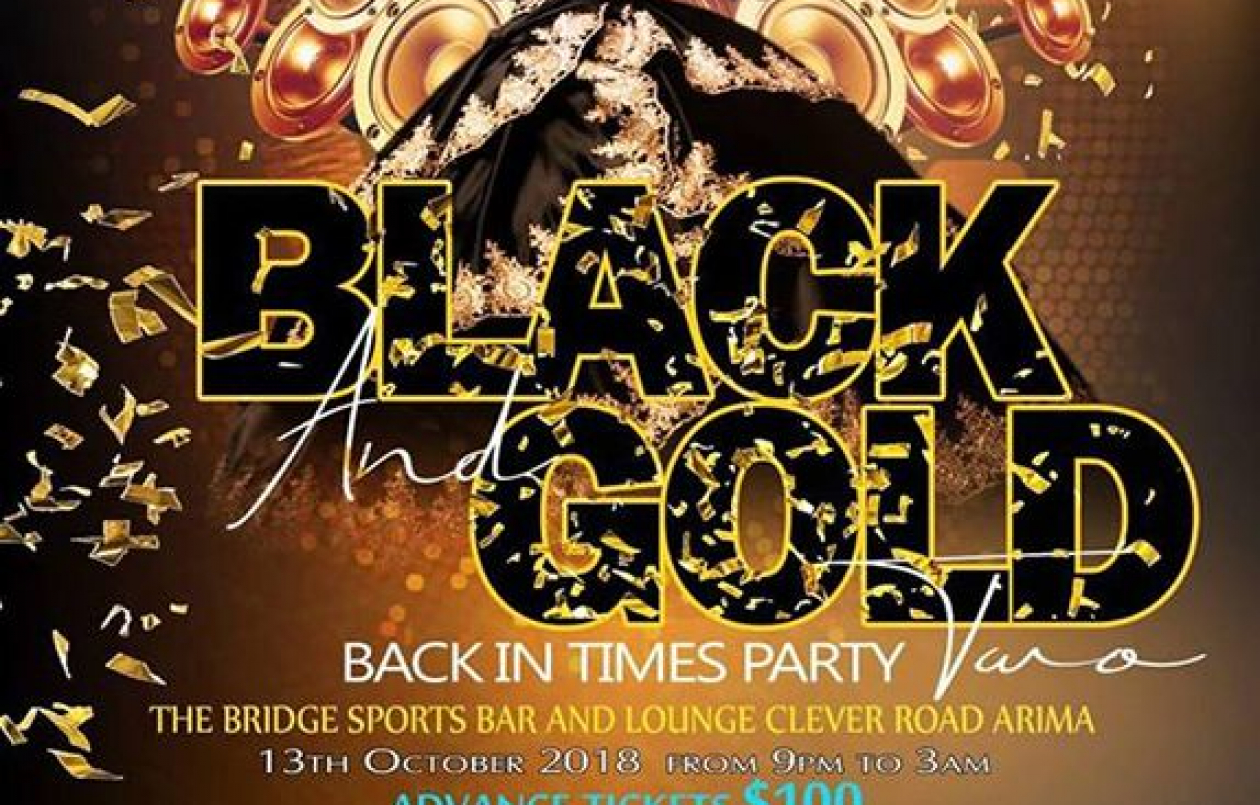 Black & Gold Back In Times Party