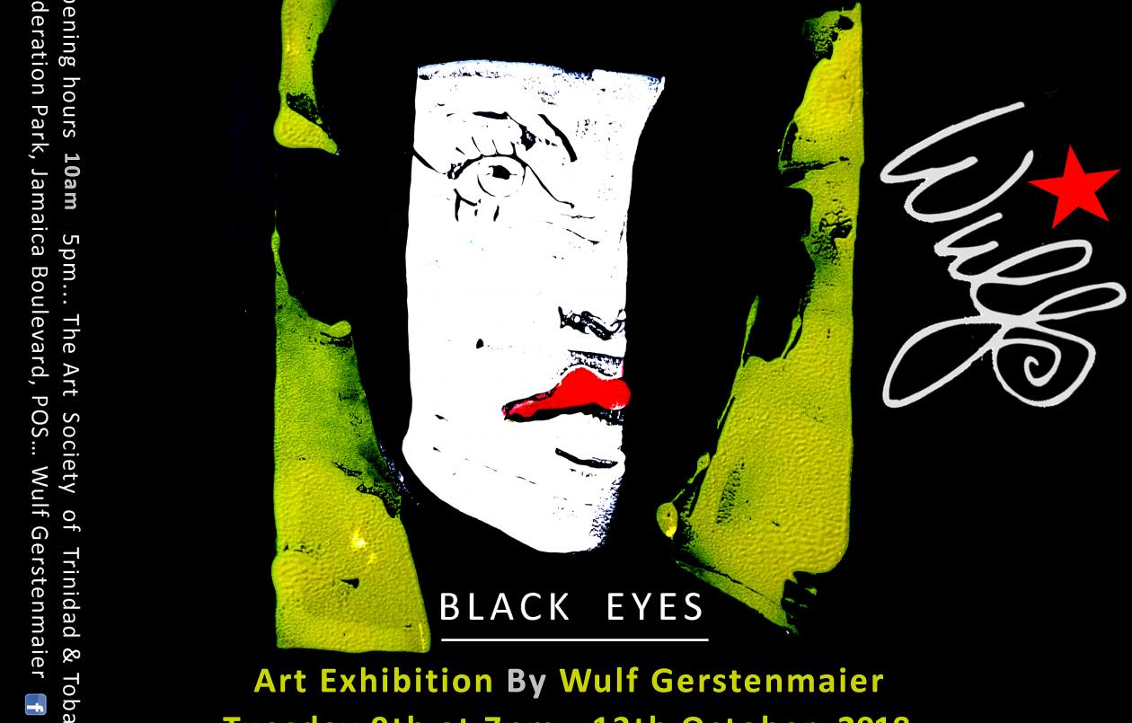Black Eyes art exhibition by Wulf Gerstenmaier