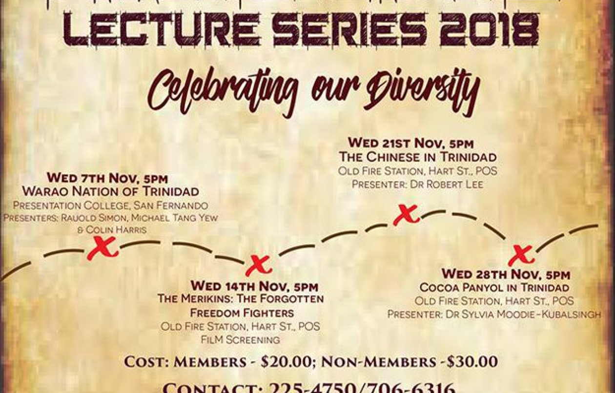 Timeline Lecture Series 2018: Celebrating Our Diversity - The Chinese In Trinidad