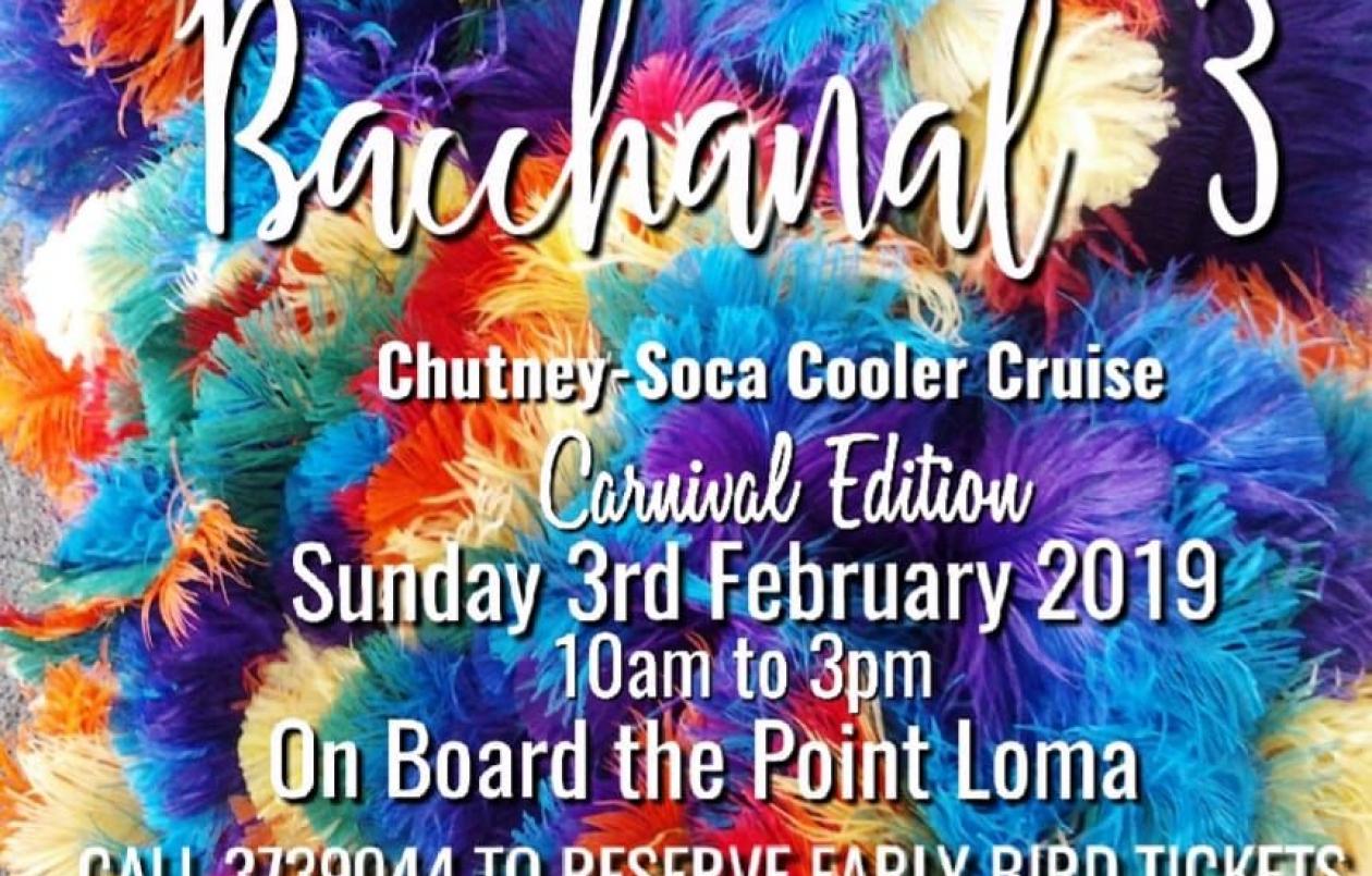 BACCHANAL 3 - CHUTNEY SOCA COOLER CRUISE - CARNIVAL EDITION
