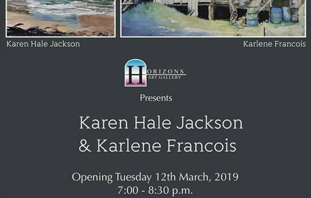 Exhibition of works by Karen Hale Jackson & Karlene Francois