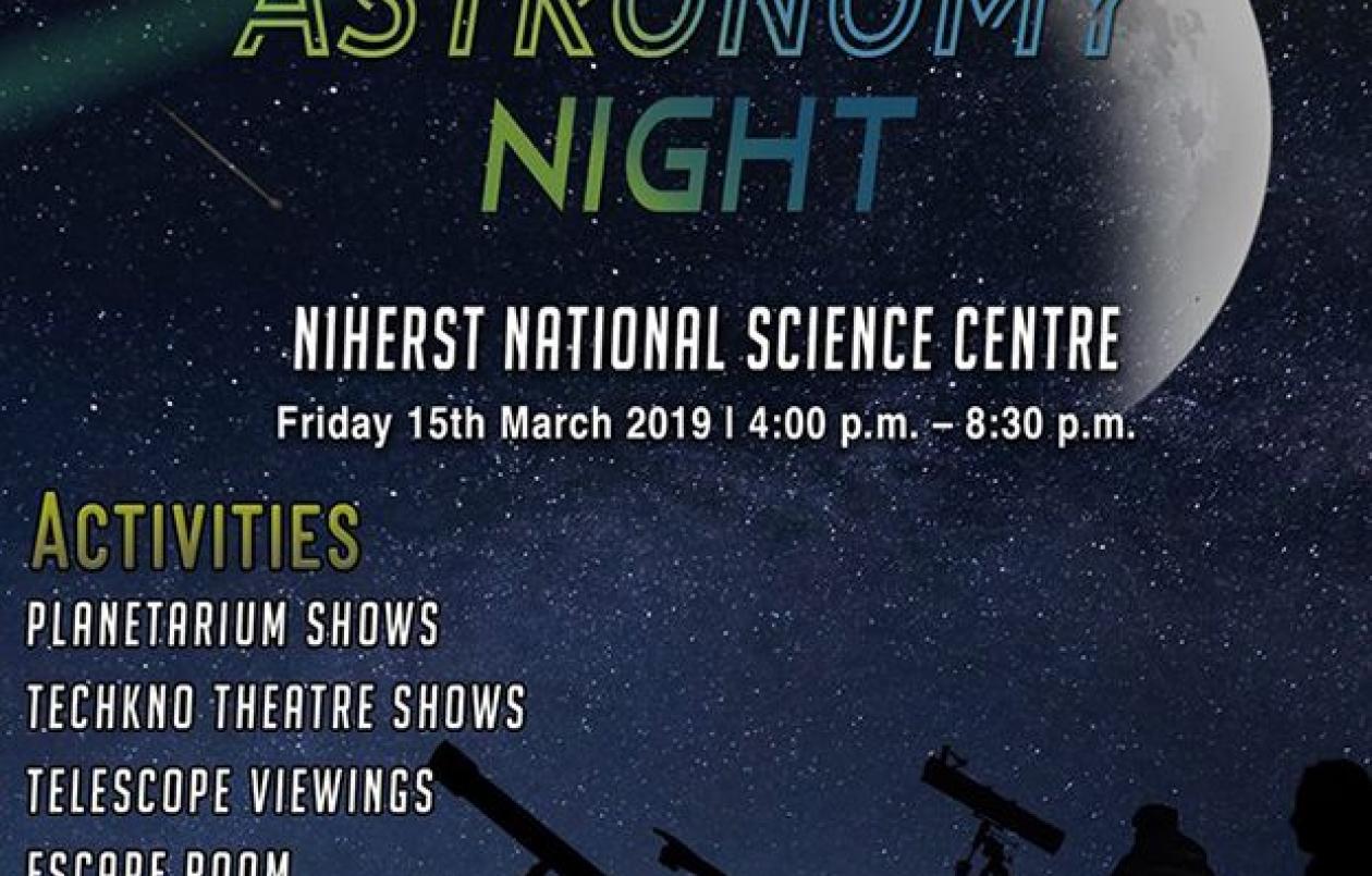 NIHERST Astronomy Night: 15.3.19