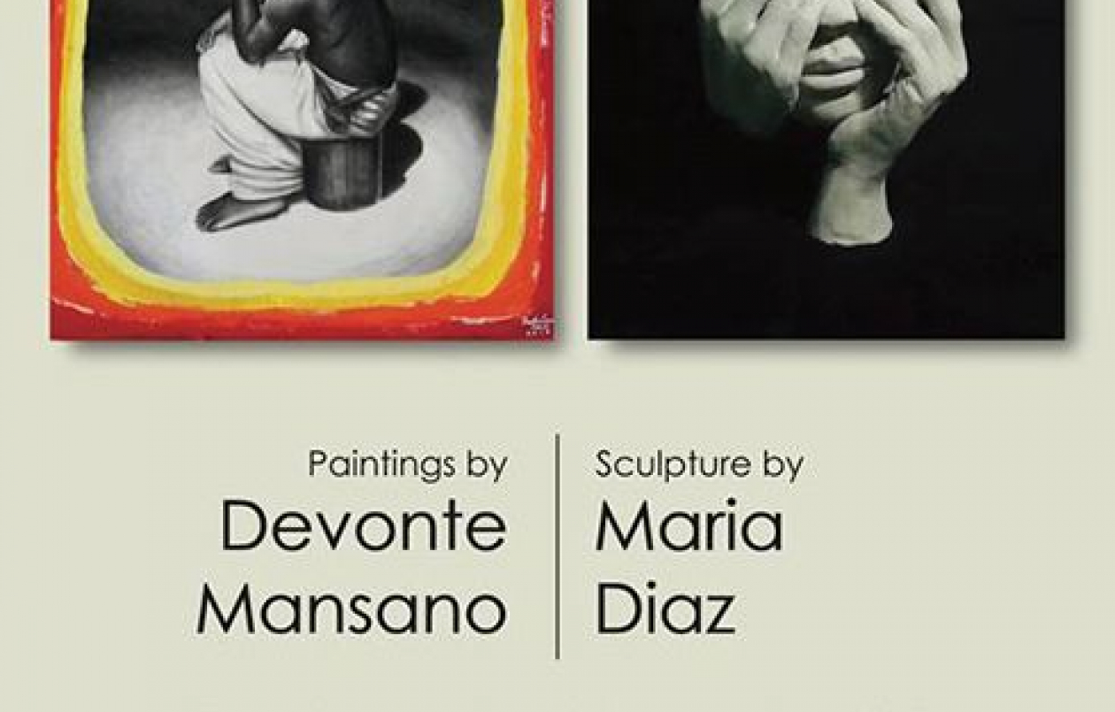 Paintings by Devonte Mansano | Sculpture by Maria Diaz