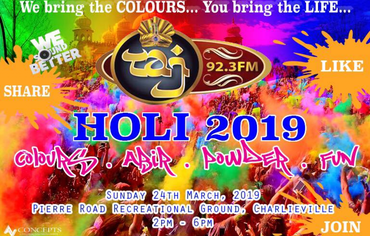 Pierre Road HOLI 2019 (Phagwa 2019)