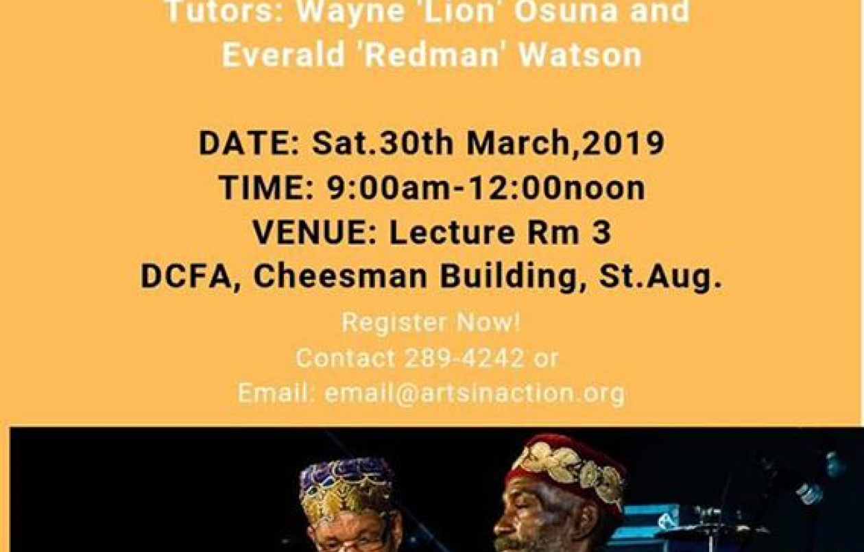 Arts-In-Action Creatives African Drumming Session - 30.3.19