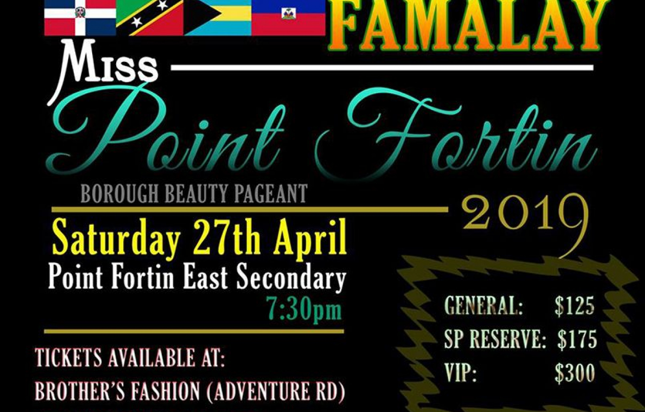 Point Fortin Borough Celebrations 2019: Miss Point Fortin Borough Beauty Pageant