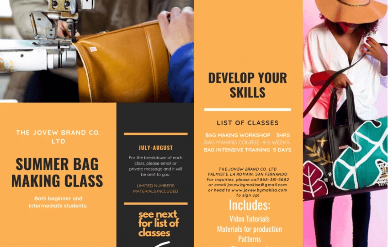Jovew By Makisa Summer Bag Making Class