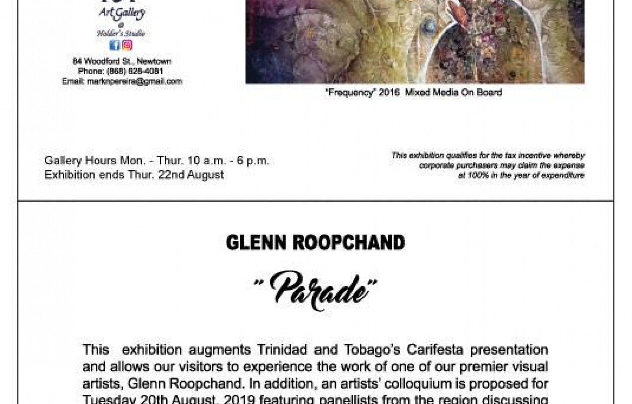 Parade: An Exhibition of works by Glenn Roopchand