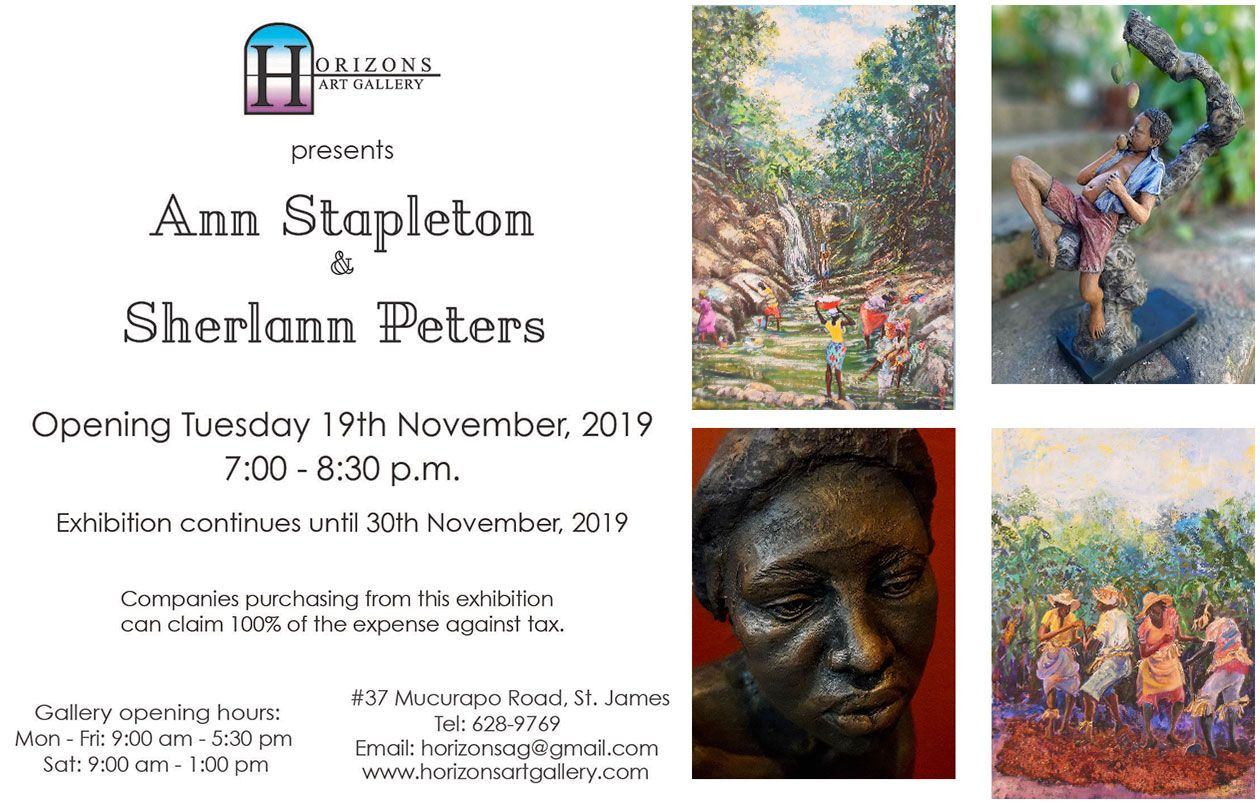Horizons Art Gallery presents Ann Stapleton & Sherlann Peters