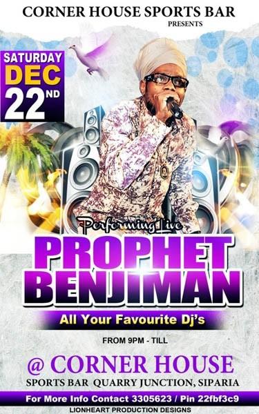 Prophet Benjamin Live @ Corner House