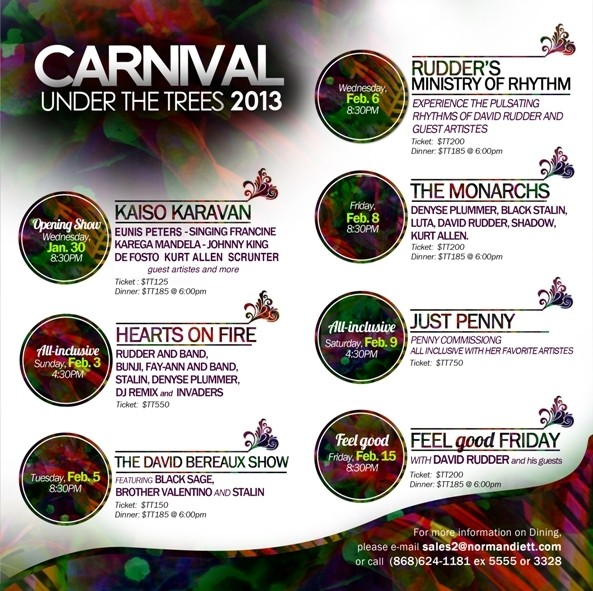 Carnival Under The Trees 2013: Hearts On Fire All Inclusive