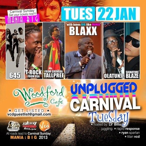 Unplugged Tuesdays! Blaxx, Tallpree, Olatunji, Signature Blaze