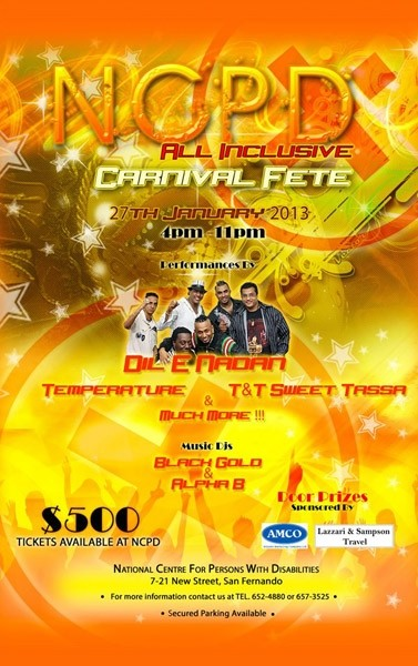NCPD All Inclusive Carnival Fete 2013