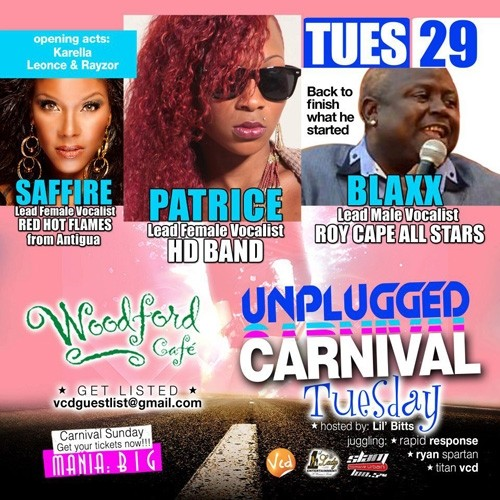 Unplugged Tuesdays! Patrice Roberts & The Return of Blaxx