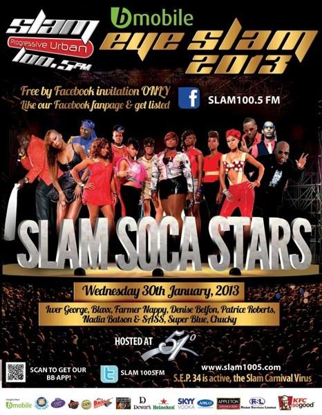 Eye Slam Concert Series 2013: Slam Soca Stars