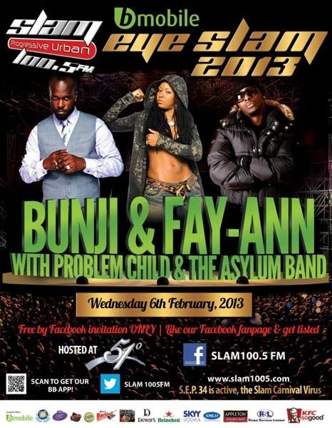 Eye Slam Concert Series 2013: Bunji, Fay Ann & Problem Child with Asylum Band
