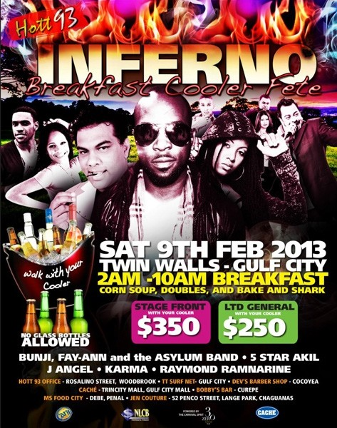 Hott 93 Inferno Breakfast Cooler Fete 2013