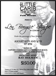 Len  Boogsie  Sharpe in Concert