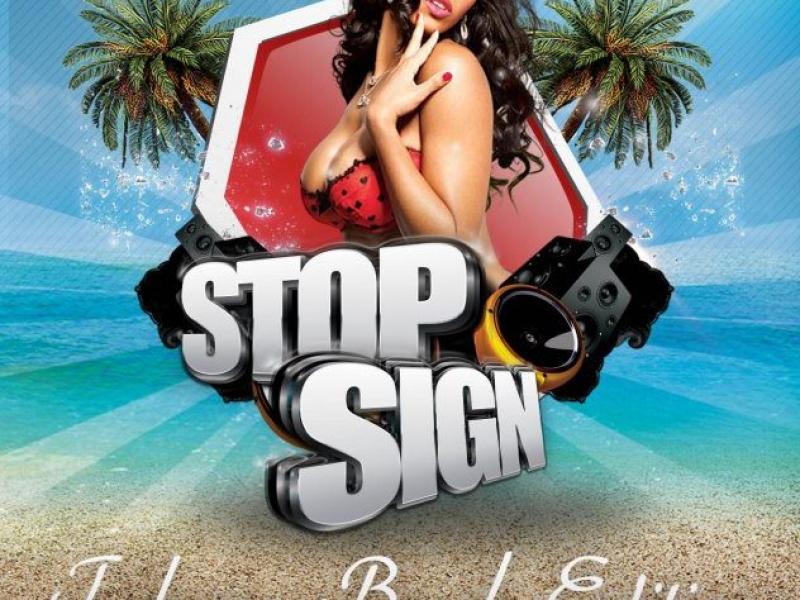 Stop Sign: Tobago Beach Edition