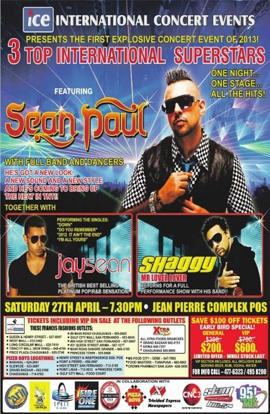 Sean Paul, Jay Sean & Shaggy in Concert