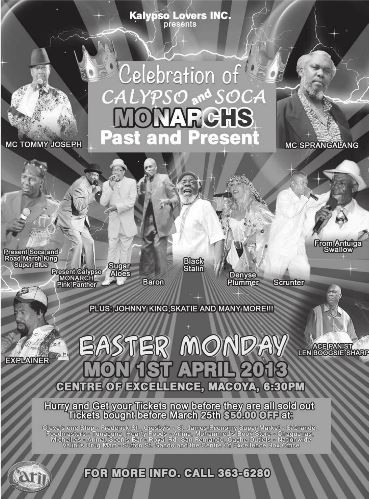Celebration of Calypso and Soca Monarchs Past and Present