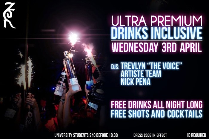 Ultra Premium Drinks Inclusive Wednesday