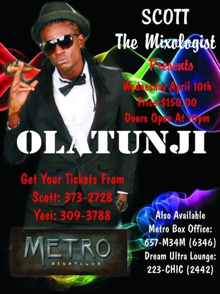 Olatunji at Metro