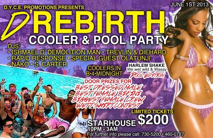 D'Rebirth Cooler & Pool Party