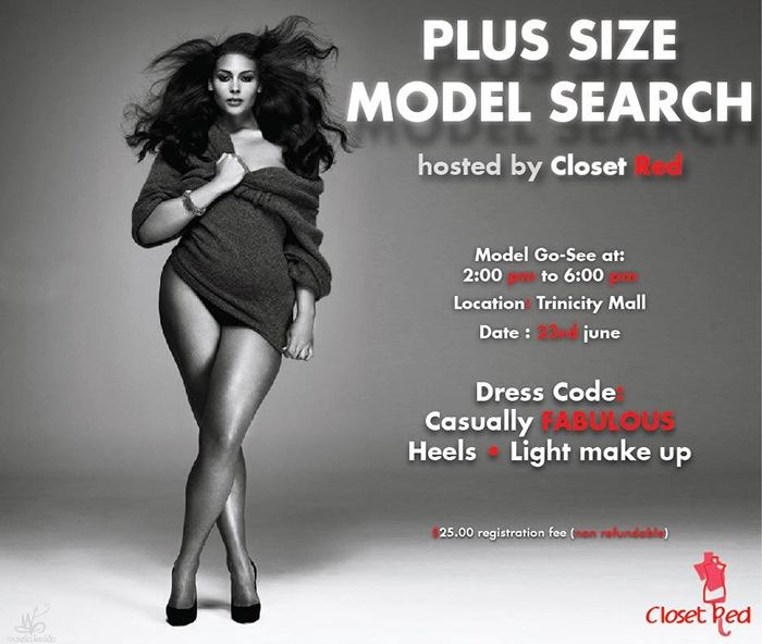plus size model search: closet red go see id 4814