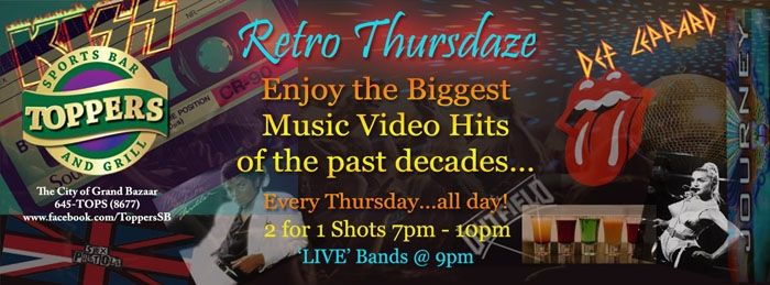 Retro Thursdaze/Thursday Night Live Featuring Joel John & The Band Hitlist