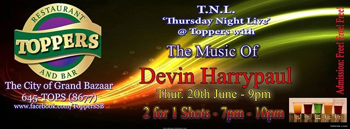 Retro Thursdaze/Thursday Night Live Featuring Devin Harrypaul