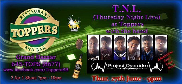 Retro Thursdaze/Thursday Night Live Featuring Project Override
