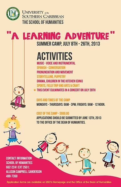 USC Summer Camp 2013: A Learning Adventure