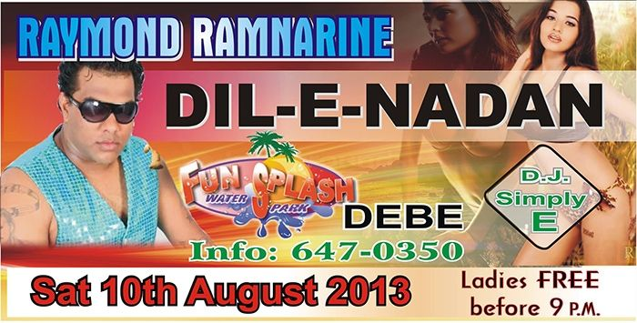 Fun Splash Water Park Poolside Party Featuring Raymond Ramnarine & Dil-E-Nadan